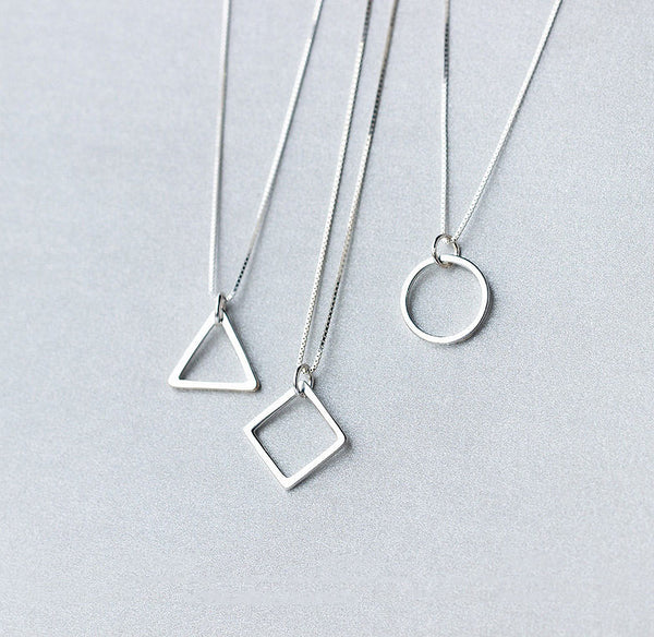 MyKay Geometry Pendant Necklace in Sterling Silver - Main