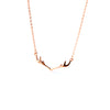 MyKay Majestic Deer Antler Pendant Sterling Silver Necklace