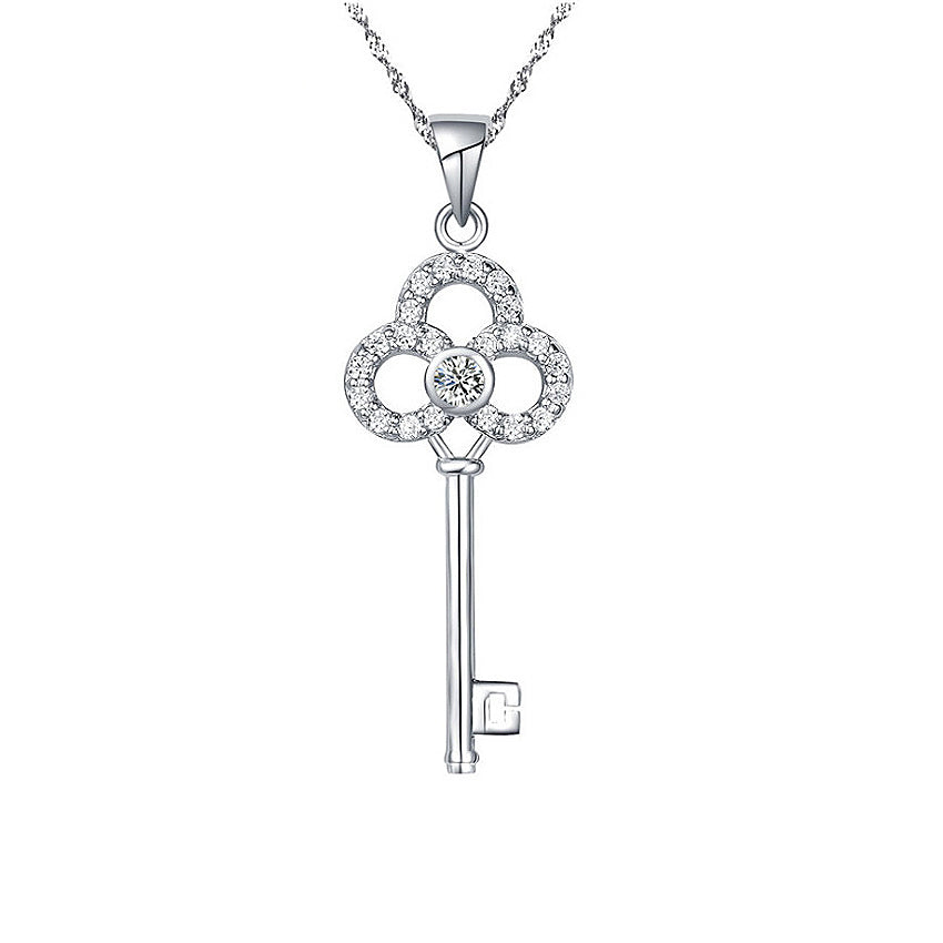 Mykay crown key pendant sterling silver necklace mykay jewelry mykay crown key pendant sterling silver necklace aloadofball Image collections