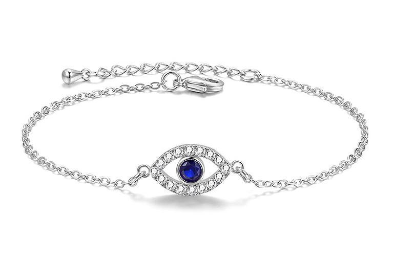 MyKay Stylish Blue Evil Eye Bracelet