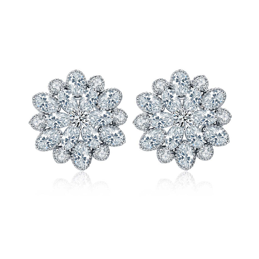 studs basement of stud earrings zirconia diamonds inspirational allezgisele diamond cz best wall cubic