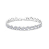 Double-Leaf CZ Diamond Bracelet