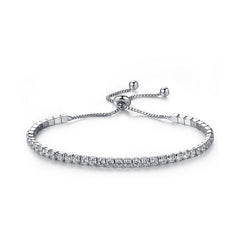 Luxury Adjustable Tennis Bracelet with Swarovski Element SV