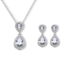 Double Halo Pear Cut CZ Diamond Bridal Set