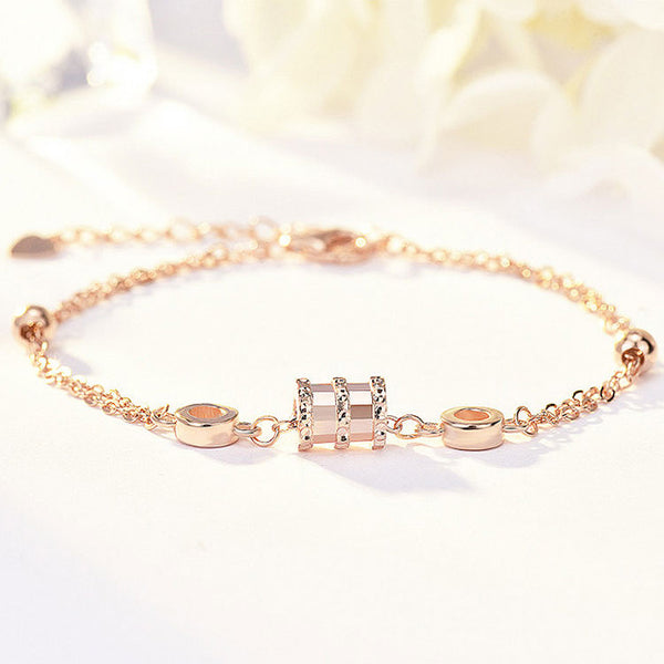 Mykay forever love sterling silver bracelet rose gold