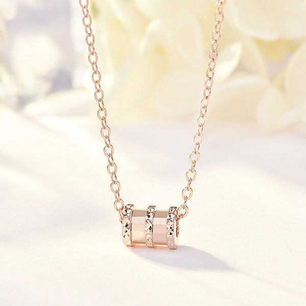 Mykay forever love sterling silver necklace rose gold
