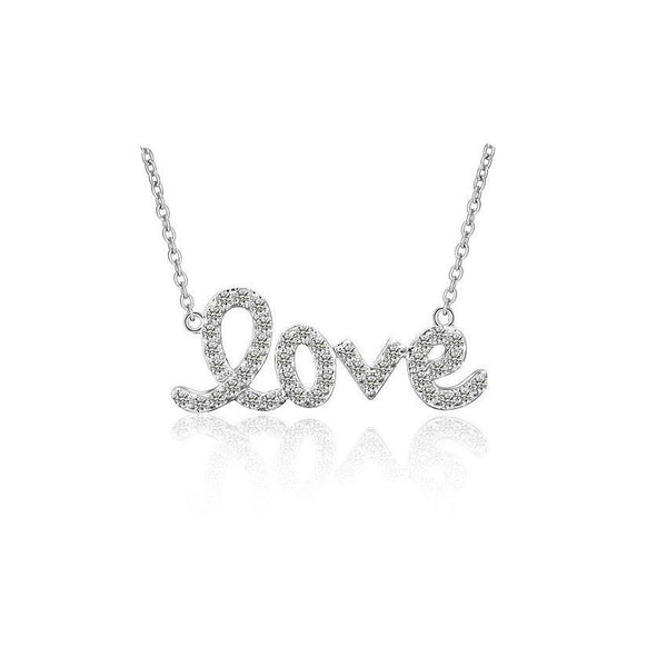 MyKay Love Pendant Necklace with Swarovksi Elements