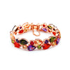 MyKay Luxury Double Row Pear Round Multi-colour CZ Diamond Bracelet