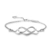 MyKay Infinite Love Sterling Silver Bracelet with Swarovski Elements