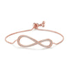 MyKay Adjustable Infinity Swarovski Crystal Bracelet Rose Gold