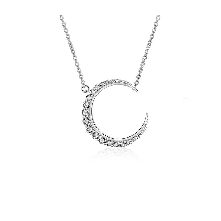 MyKay Sparkling Moon Necklace with Swarovski Elements