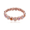 MyKay Halo Round Multi-colour CZ Diamond Bracelet