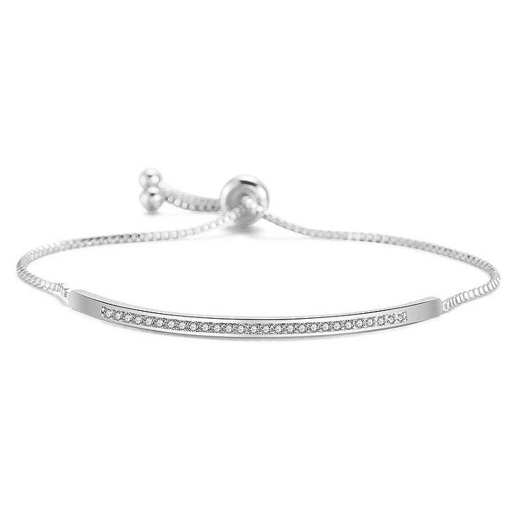 MyKay Adjustable Swarovski Semi-Bangle Bracelet