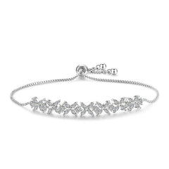 MyKay Adjustable Swarovski Element Small Clover Bracelet SV