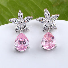 MyKay Tear of Stars CZ Diamond Earrings