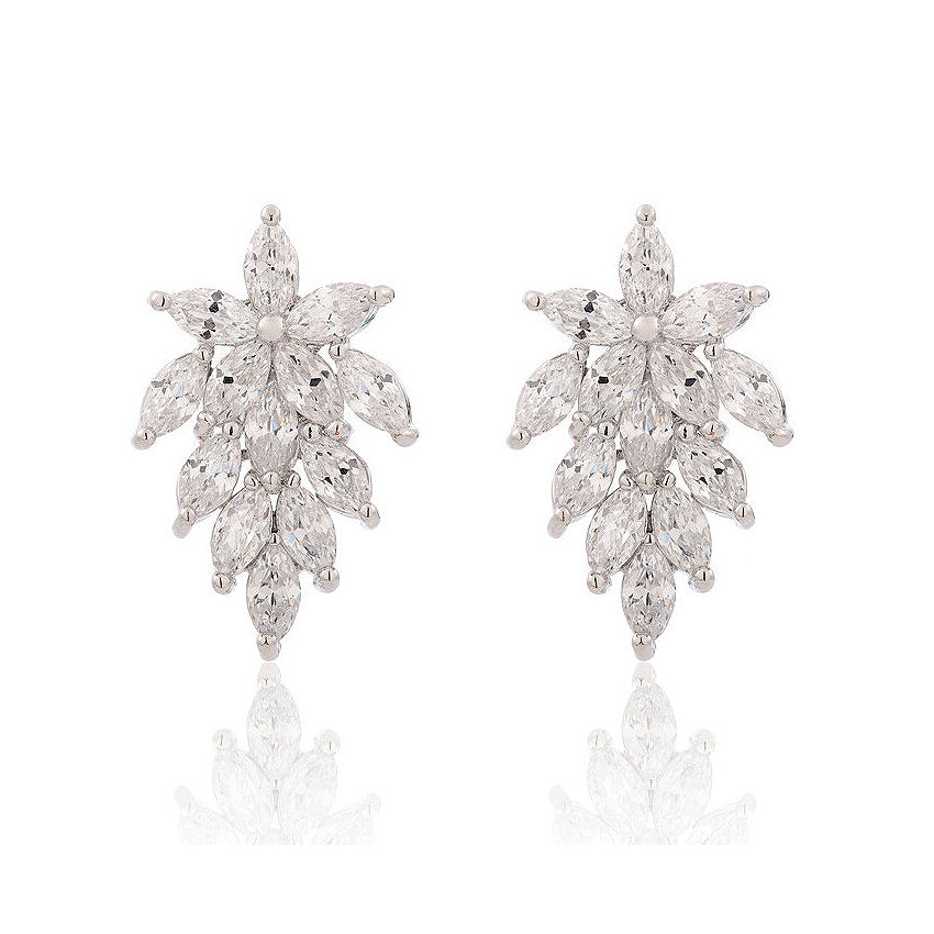 gold in cz white diamond fake halo stud mm l studs earrings
