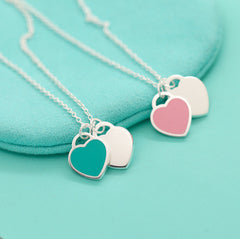 Mykay-sterling-silver-double-heart-pendant-necklace-with-enamel-finish 1