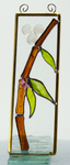 "Bamboo Dragonfly Stained Glass Suncatcher 2"" x 8"""