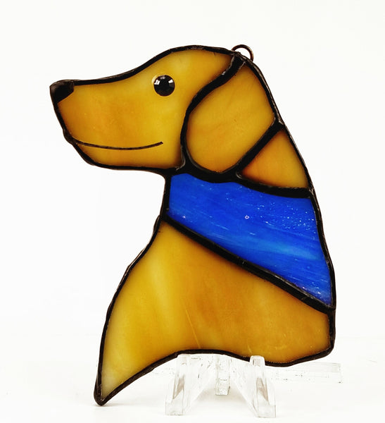 "Yellow Labrador retriever ornament 2"" x 3"""