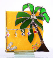 "Margaritaville Yellow Stained Glass Suncatcher 4"" x 5.5"""