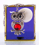 "Purple Sky Moon Owl Night Light with Auto Sensor. 3"" x 3.5"""