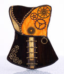 "Steampunk Corset Night Light with Auto Sensor. 3.5"" x 4.5"""