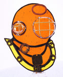 "Steampunk Diving Helmet Night Light with Auto Sensor. 3.5"" x 5"""