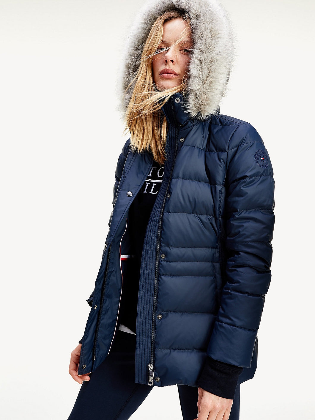 TOMMY HILFIGER Tyra Down Jacket - navy