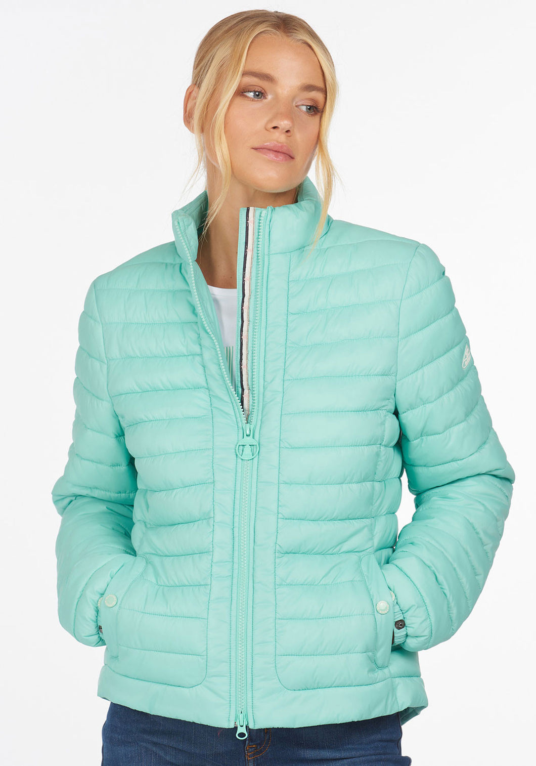 BARBOUR Runkerry Quilted Jacket - Mint Green