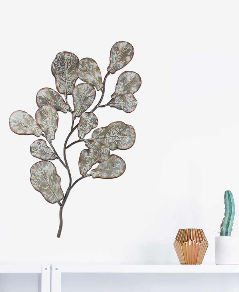 Metal Rusted Tree Branch Wall Art