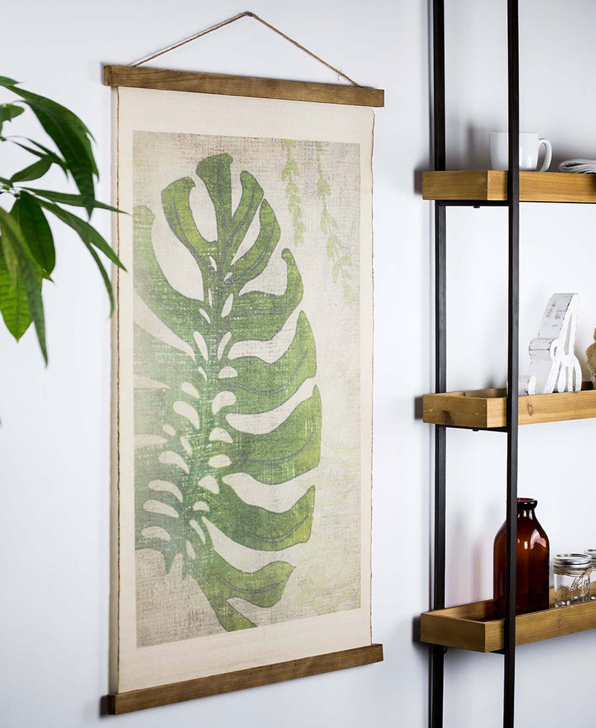 Leaf Tapestry Wall Art Scroll