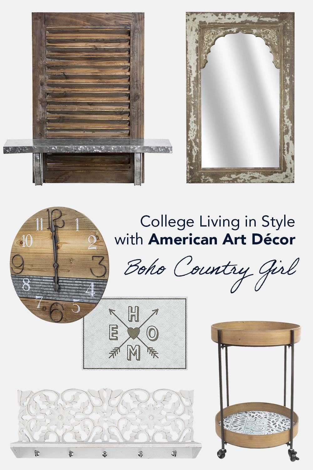 The Boho Country Girl Collage American Art Decor