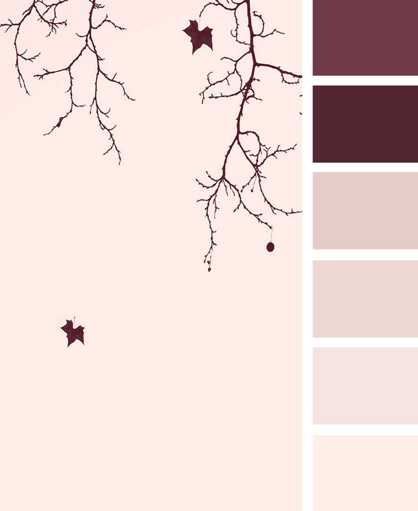 Burgundy and Peach Color Palette