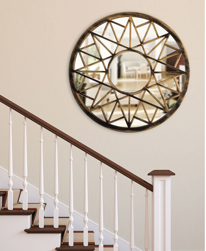 Bronze Geometric Wall Mirror