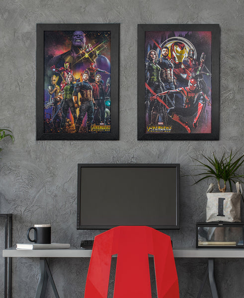 Marvel Avengers Infinity War Prints on Wall