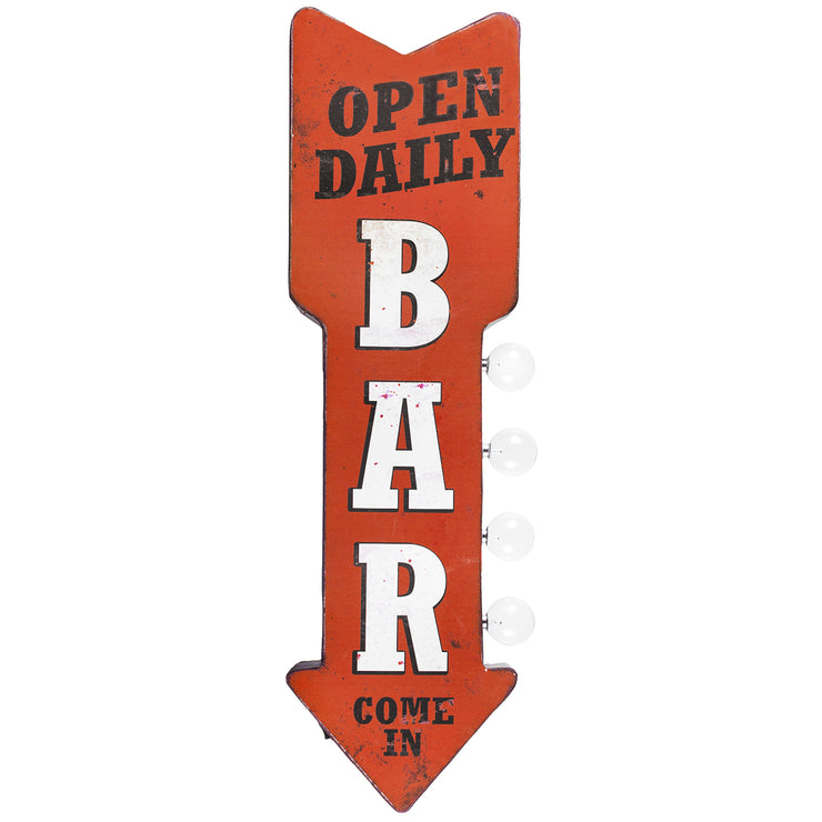 Vintage Bar LED Marquee Arrow Sign Wall Decor