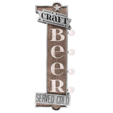 Craft Beer Served Cold Vintage Bar Marquee LED Sign