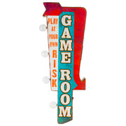 Game Room Vintage LED Marquee Sign Wall Decor