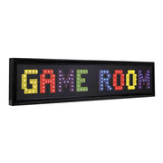 Game Room Framed LED Sign