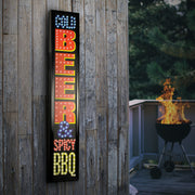 Cold Beer & Spicy BBQ Framed LED Sign