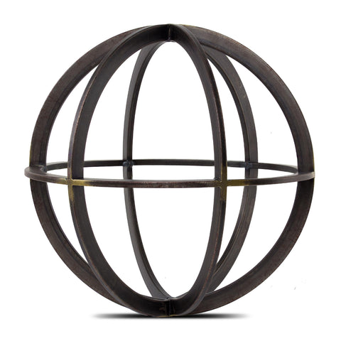 Metal Orb Dyson Sphere Sculpture Large