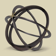 Metal Orb Dyson Sphere Sculpture Small
