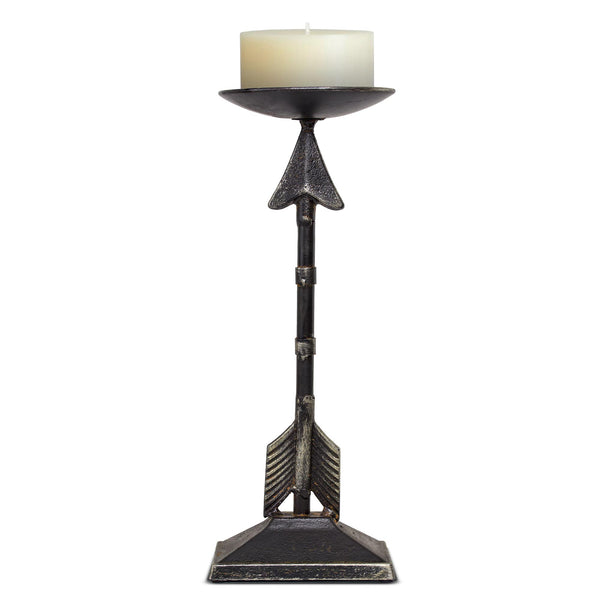 "Metal Arrow Candleholder (13"" H)"