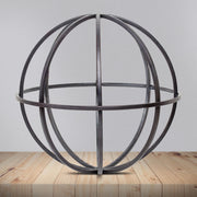 "Metal Orb Dyson Sphere Tabletop Decor - Large (9.8"")"
