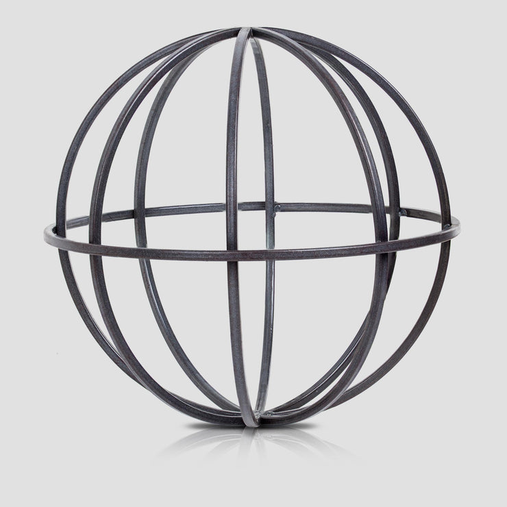Metal Orb Dyson Sphere Sculpture Medium