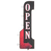 "Vintage Open LED Marquee Arrow Sign (30"" x  9"")"