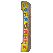 Vintage Cold Beer LED Marquee Sign Wall Decor - 40""