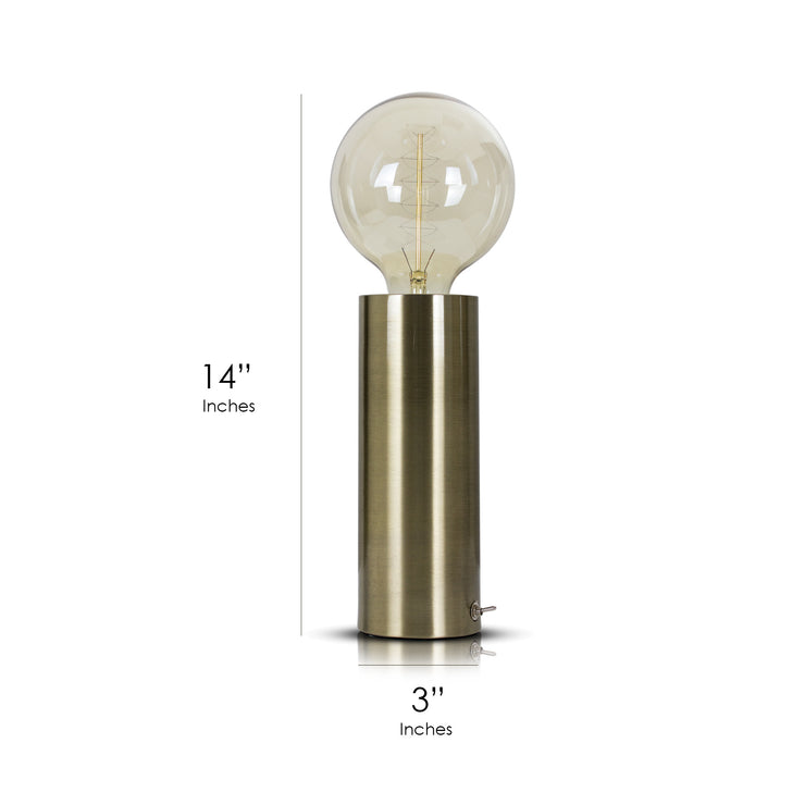 "Gold Brass Metal 14"" Table Lamp"