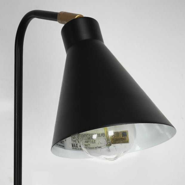 "Industrial Adjustable Desk Lamp with Marble Base – Black (21"")"