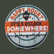 Happy Hour It's 5 O'Clock Somewhere Bottle Opener & Cap Catcher